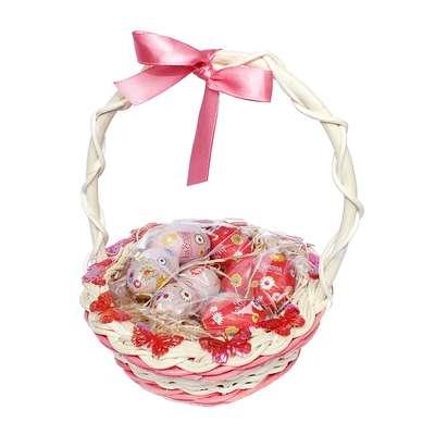 Подарочная пасхальная корзина с большими шоколадными яйцами - 4 La Suissa, фото 2