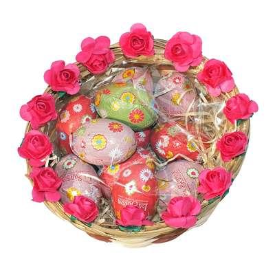 Подарочная пасхальная корзинка с шоколадными яйцами 2 La Suissa, фото 2