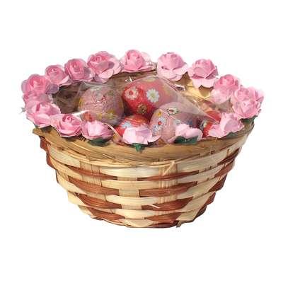 Подарочная пасхальная корзинка с шоколадными яйцами La Suissa, фото 2