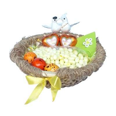 Свадебная корзина с конфетами Любовное гнездышко, фото 3