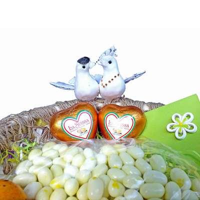 Свадебная корзина с конфетами Любовное гнездышко, фото 4