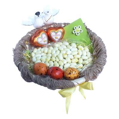 Свадебная корзина с конфетами Любовное гнездышко, фото 5