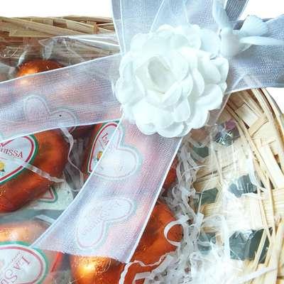 Свадебная корзина Любовь и голуби, фото 6