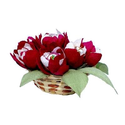 Сладкий подарок Букет пионов из конфет, фото 4