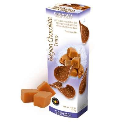 Чипсы шоколад с карамелью и морской солью Belgian Milk Chocolate Caramel Sea Salt 80 гр, фото 1