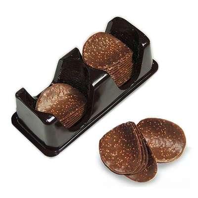 Шоколадные чипсы с карамелью Belgian Milk Chocolate Thins Caramel 80 гр, фото 2