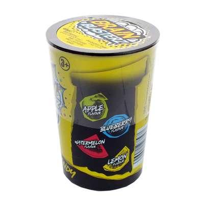 Самые кислые леденцы желтая банка 4 вкуса Brain Blasterz 48 гр, фото 2