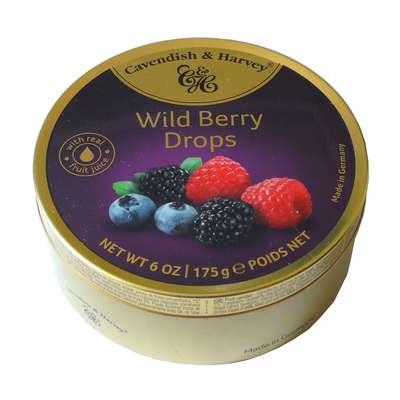Леденцы ассорти дикие ягоды Wild Berry Drops Cavendish and Harvey 175 гр, фото 1