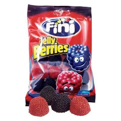 Жевательный мармелад Красные и черные ягоды в обсыпке Fini 100 гр, фото 2