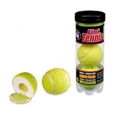 Жевательная резинка с начинкой Гигант Теннисные мячики тубус Fini 15 гр x 3 x 12 шт, фото 1