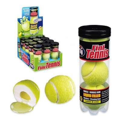 Жевательная резинка с начинкой Гигант Теннисные мячики тубус Fini 15 гр x 3 x 12 шт, фото 3
