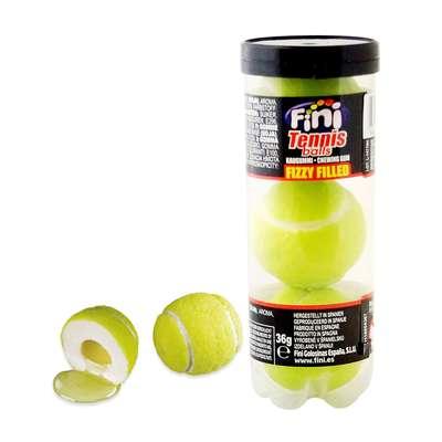 Жевательная резинка с начинкой Гигант Теннисные мячики тубус Fini 15 гр x 3 x 12 шт, фото 2