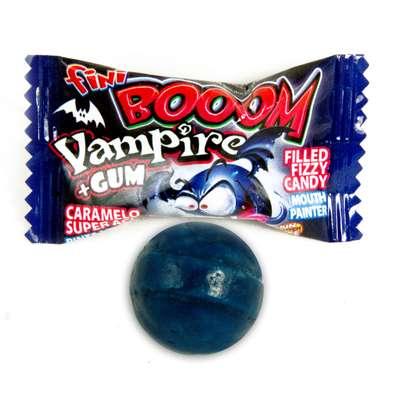 Леденцовая карамель с жевательной резинкой Вампиры Fini 80 гр, фото 3