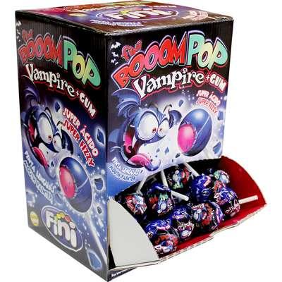 Леденцовая карамель с жевательной резинкой на палочке Вампиры Fini 16 гр x 100 шт, фото 3