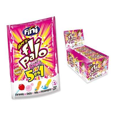 Набор леденцовой карамели FLI-PALO 5 в 1 Клубника Fini 20 гр x 40 шт, фото 1