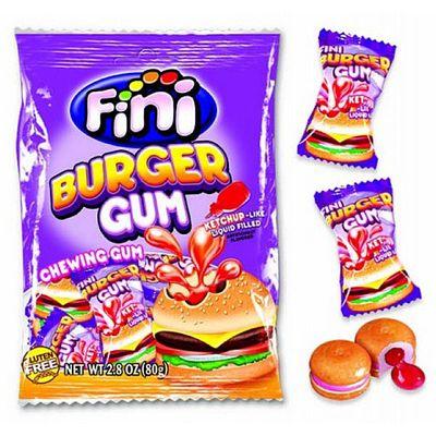 Жевательная резинка Бургер Fini 80 гр, фото 1