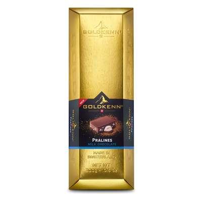 Золотой слиток молочный шоколад Swiss Goldbar Goldkenn 300 гр, фото 1