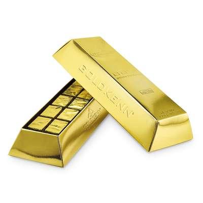 Золотой слиток молочный шоколад Swiss Goldbar Goldkenn 300 гр, фото 2