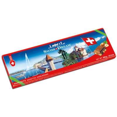 Молочный шоколад с цельным фундуком Swiss Dream Goldkenn 300 гр, фото 1