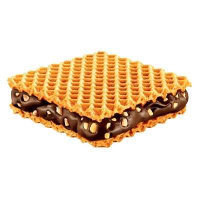 Хрустящие вафли с шоколадным кремом и кусочками фундука Hanuta 44 гр, фото 2
