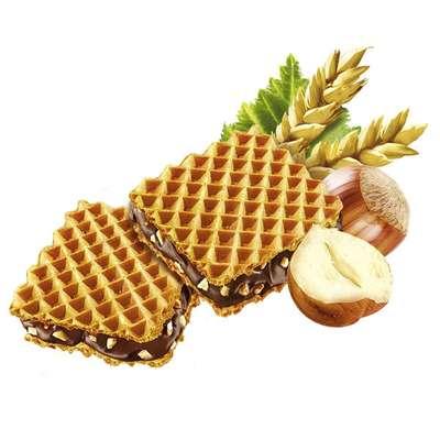 Хрустящие вафли с шоколадным кремом и кусочками фундука Hanuta 44 гр, фото 3