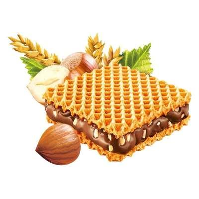 Хрустящие вафли с шоколадным кремом и кусочками фундука Hanuta 44 гр, фото 4