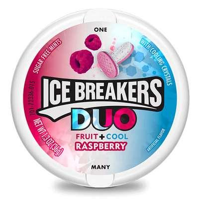 Пастилки леденцы малина и мята без сахара Ice Breakers Duo 36 гр, фото 1