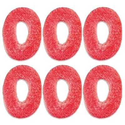 Мармелад на развес Клубничные кольца в сахаре Jake 100 гр, фото 1