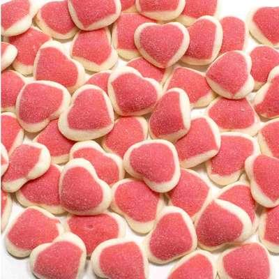Мармелад на развес Сердце двойное розово-белое подсахаренное Jake 100 гр, фото 1