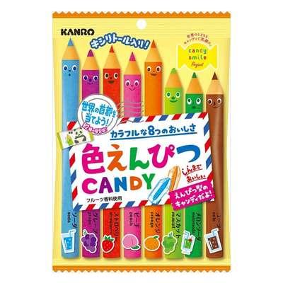 Леденцы с натуральным соком Цветные карандаши Kanro 80 гр, фото 1