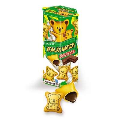 Печенье с шоколадной начинкой Koala March Chocolate Lotte 37 гр, фото 3