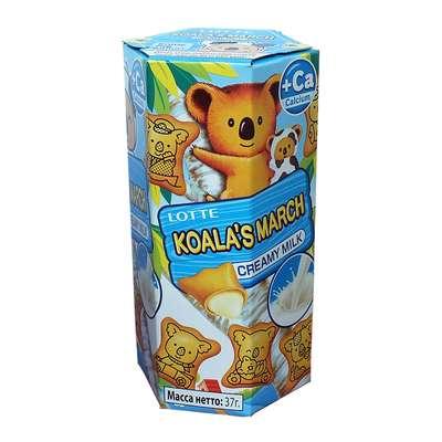 Печенье с молочно-кремовой начинкой Koala March Creamy Milk Lotte 37 гр, фото 2