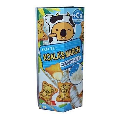 Печенье с молочно-кремовой начинкой Koala March Creamy Milk Lotte 37 гр, фото 1