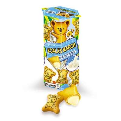 Печенье с молочно-кремовой начинкой Koala March Creamy Milk Lotte 37 гр, фото 3