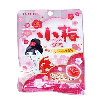 Жевательный мармелад вкус японской сливы Koume Gummi Candy Lotte 34 гр, фото 1