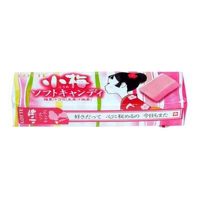 Жевательные конфеты вкус японской сливы Koume Soft Candy Lotte 54 гр, фото 1