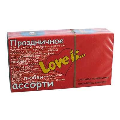 Жевательная резинка Праздничное ассорти вкусов Пожелания LOVE IS 4,2 гр x 25 шт, фото 1