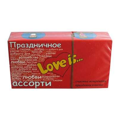 Жевательная резинка Праздничное ассорти вкусов Пожелания LOVE IS 4,2 гр x 25 шт, фото 2