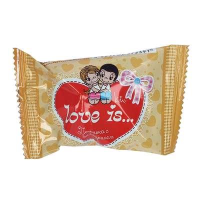 Печенье с вкладышем о дружбе и любви LOVE IS 6 гр, фото 3