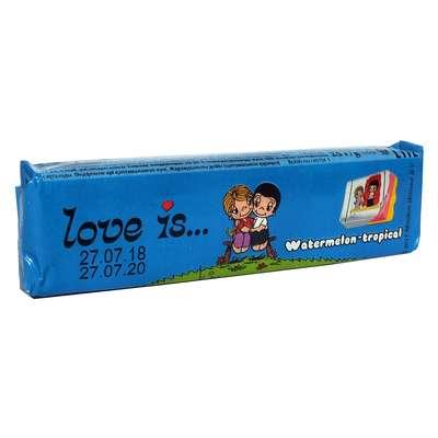 Жевательная конфета Арбуз Тропик LOVE IS 25 гр, фото 1