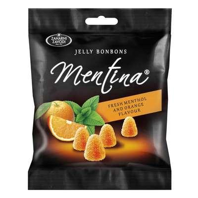 Жевательный мармелад Апельсин и мята Mentina 90 гр, фото 1