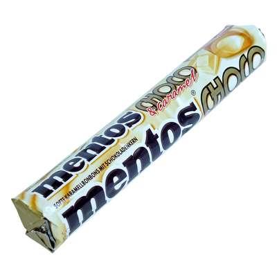 Жевательные конфеты Mentos Caramel and White Choco 38 гр, фото 1