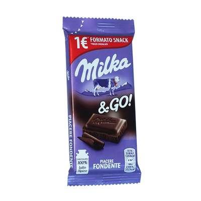 Темный шоколад Piacere Fondente and GO Milka 45 гр, фото 1