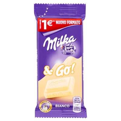 Белый шоколад снек формат White and GO Milka 45 гр, фото 2
