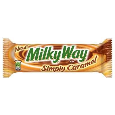 Шоколадный батончик Simply Caramel Milky Way 54 гр, фото 2