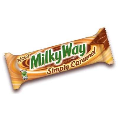 Шоколадный батончик Simply Caramel Milky Way 54 гр, фото 3