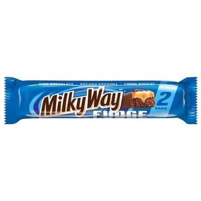 Батончик молочный шоколад с карамелью и нугой Fudge Milky Way 85 гр, фото 1