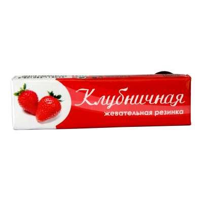 Жевательная резинка клубничная Plastinki Lotte 12,5 гр, фото 1