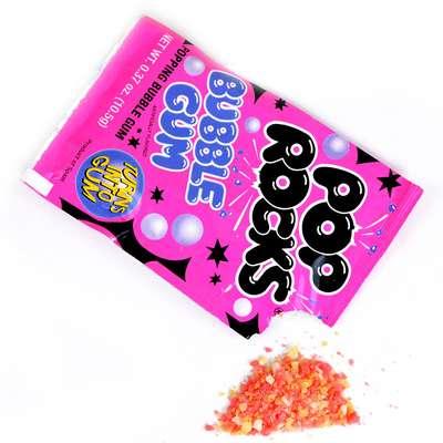 Жевательная резинка взрывные кристаллы Bubble Gum Pop Rocks 10,5 гр, фото 3