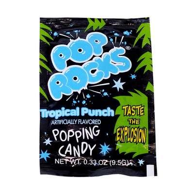 Взрывная карамель Тропический пунш Tropical Punch Pop Rocks 9,5 гр, фото 1